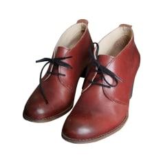 Bottines & low boots à talons KICKERS Rouge, bordeaux