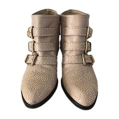 Santiags, bottines, low boots cowboy CHLOÉ Beige, camel