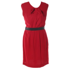 Midi Dress SANDRO Red, burgundy