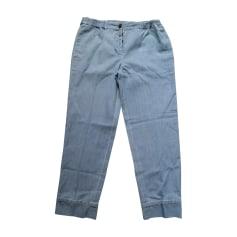 Pantalone dritto MIU MIU Blu, blu navy, turchese