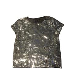 Top, t-shirt ZADIG & VOLTAIRE Argentato, acciaio