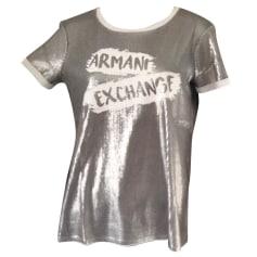 Top, tee-shirt ARMANI EXCHANGE Argenté, acier