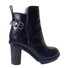 Bottines & low boots à talons ACNE Bleu, bleu marine, bleu turquoise