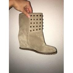 Bottines & low boots à compensés FABIO RUSCONI daim beige 38 Enr8OkV