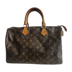 Borsetta in pelle LOUIS VUITTON Speedy Marrone