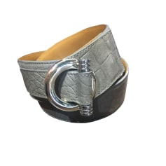 Wide Belt RENOUARD Taupe