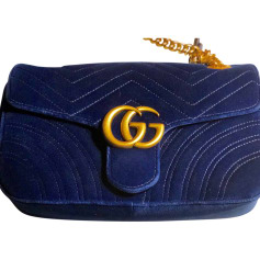 Non-Leather Shoulder Bag GUCCI Blue, navy, turquoise