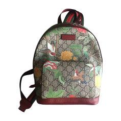 Backpack GUCCI Red, burgundy