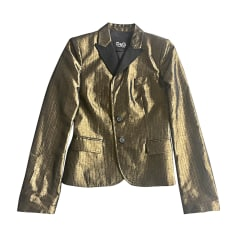 Blazer, veste tailleur D&G Doré, bronze, cuivre