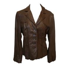 Veste de tailleur en cuir femme