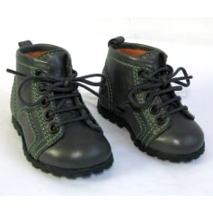 Lace Up Shoes FREE LANCE Gray, charcoal