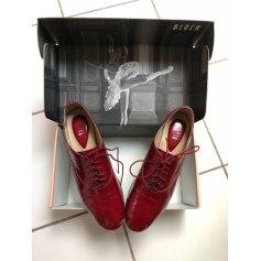 Chaussures à lacets  BLOCH Rouge, bordeaux