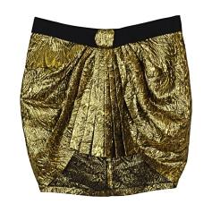 Mini Skirt ISABEL MARANT Golden, bronze, copper