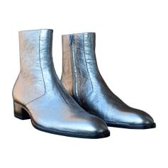 Boots SAINT LAURENT Silver