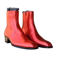 Boots SAINT LAURENT Red, burgundy