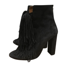 High Heel Ankle Boots CHLOÉ Gray, charcoal