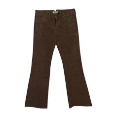 Pantalone molto svasato, a zampa d'elefante RALPH LAUREN Marrone