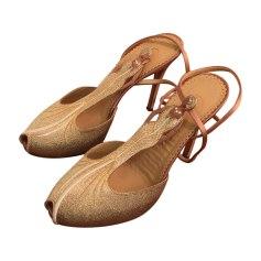 Sandales à talons CHARLOTTE OLYMPIA Doré, bronze, cuivre