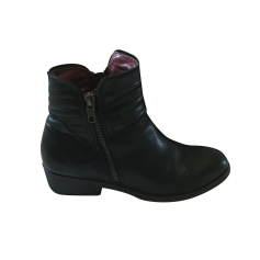 Bottines & low boots plates KICKERS Noir
