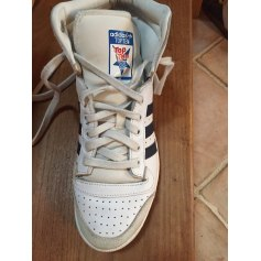 Baskets ADIDAS Blanc, blanc cassé, écru