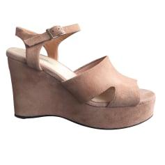 Sandales compensées BIMBA & LOLA Beige, camel