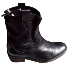 Bottines & low boots motards PALLADIUM Marron