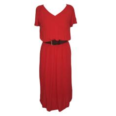 Midi-Kleid COMPTOIR DES COTONNIERS Rot, bordeauxrot