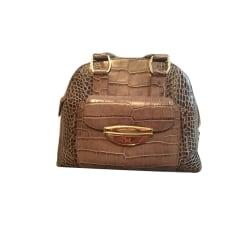 Leather Handbag LANCEL Animal prints