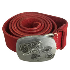 Belt DSQUARED2 Red, burgundy