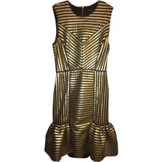 Mini Dress MAJE Golden, bronze, copper