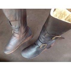 Bottines & low boots à compensés ARCHE Marron patiné graissé