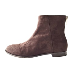 Bottines & low boots plates JIMMY CHOO Marron