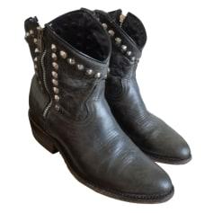 Santiags, bottines, low boots cowboy ASH Gris, anthracite