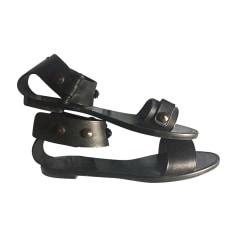 Flat Sandals LANVIN Black