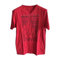 T-shirt JOHN GALLIANO Rosso, bordeaux