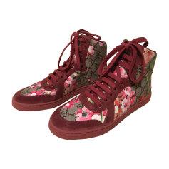 Baskets GUCCI à fleurs