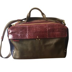 Leather Handbag JEROME DREYFUSS Vert rouge bleu