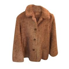 Manteau en fourrure BA&SH Beige, camel