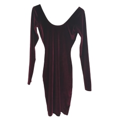 Robe dos nu AMERICAN APPAREL Rouge, bordeaux