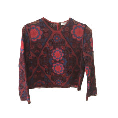 Tops, T-Shirt SANDRO Rot, bordeauxrot