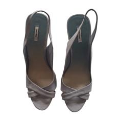 Wedge Sandals MIU MIU Blue, navy, turquoise