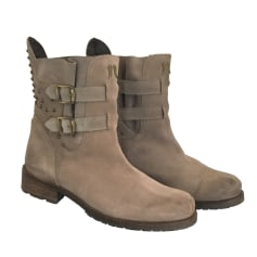 Bottines & low boots plates BERENICE Gris, anthracite