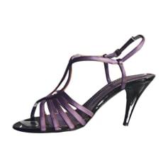 Heeled Sandals YVES SAINT LAURENT Purple, mauve, lavender