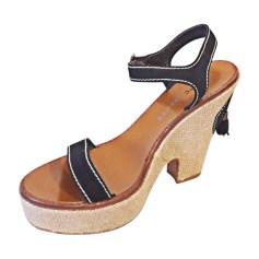 Sandales compensées MARC JACOBS Noir