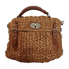 Leather Handbag MIU MIU Beige, camel