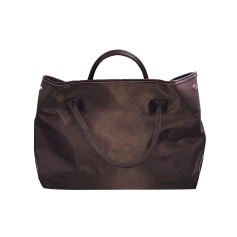 Leather Handbag LANCEL Marron chocolattoile e