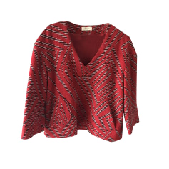 Tops, T-Shirt BA&SH Rot, bordeauxrot