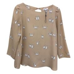 Top, t-shirt CLAUDIE PIERLOT Beige, cammello