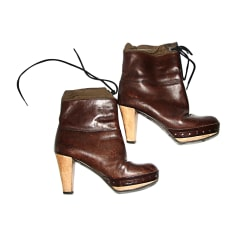 High Heel Ankle Boots MARNI Brown