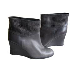 394012480dff Wedge Ankle Boots COMPTOIR DES COTONNIERS Gray